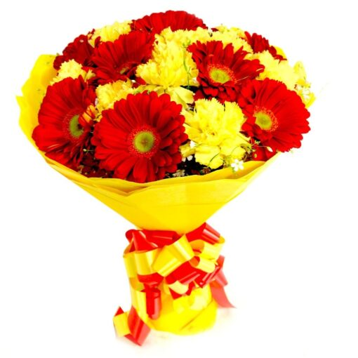 Red & Yellow Gerberas-0
