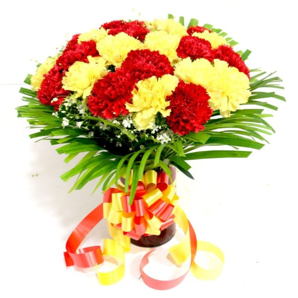 Yellow & Red Carnations -0