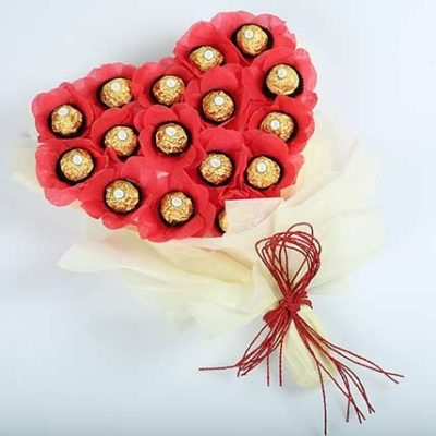 Heart Shaped Chocolate Bouquet-0