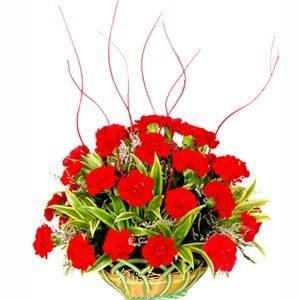 Loving Carnation Basket-0
