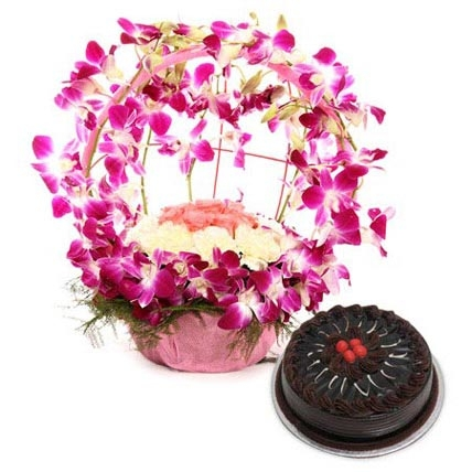Special Flowers N Cake Combo-0