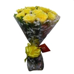 Wrapped Yellow Bouquet-0