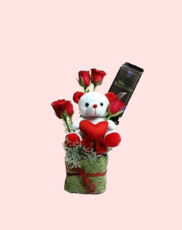 Teddy Bear with roses -0