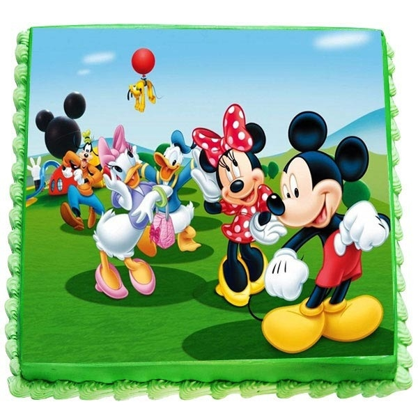 Mickey Mouse And Minne Cake-0