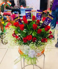 Chocolaty Red Roses Combo-0