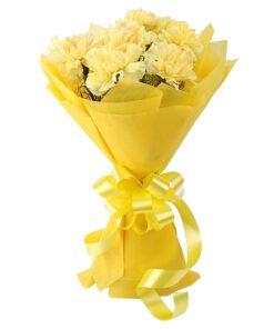 Yellow carnations-0