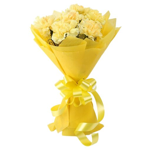 Yellow carnations-0