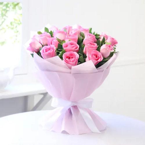 Pink 20 Roses flowerportal