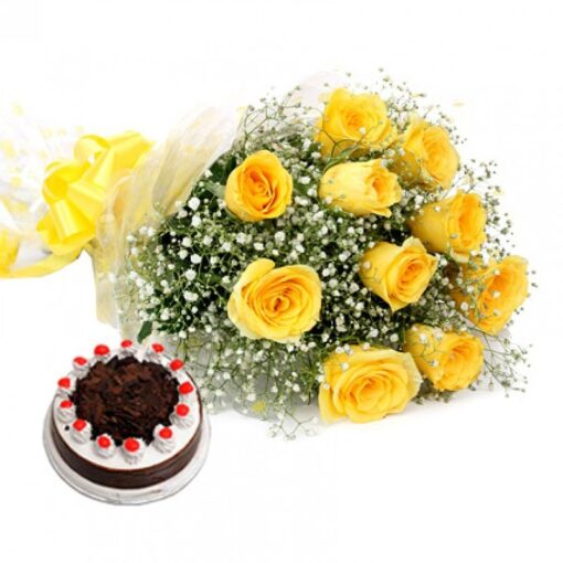 Cake with Roses Combo-0