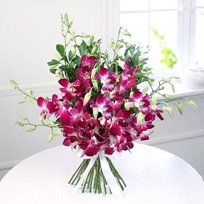 Fresh Purple Orchids Bouquet-0