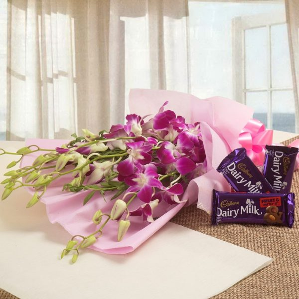 Orchids with Dairy Milk-0