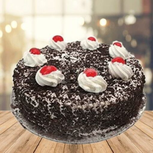 Round Black Forest with Cherry-0