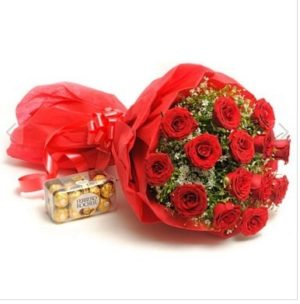 Chocolaty Roses Red Bouquet-0