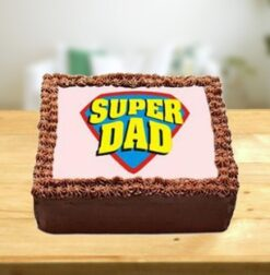 Superman Father's Day Cake-0