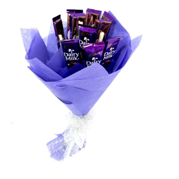 Blue Dairy Milk Bouquet-0
