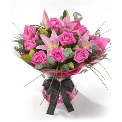 Bunch Lilies & Roses-0