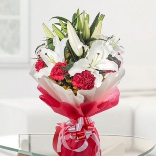 Bunch of Lilies & Carnations-0