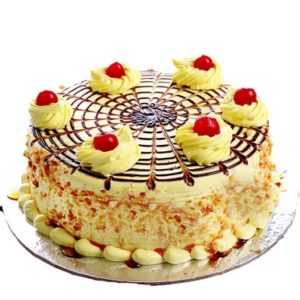 Cherries on Butterscotch Cake-0