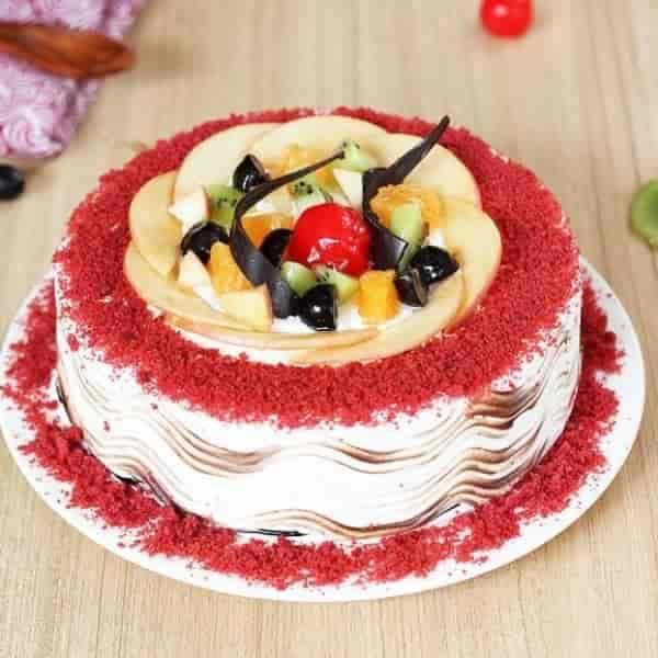 Fruity Red Velvet Cake-0