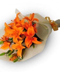 Orange Lilies Bouquet-0