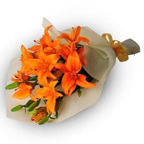 Orange Lilies Bouquet-0