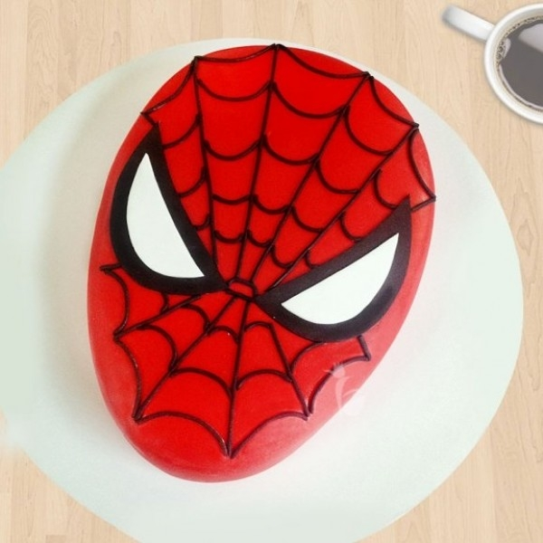 Spiderman Designed Cake-0