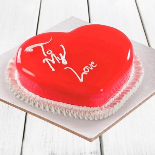 Strawberry Heart Cake-0
