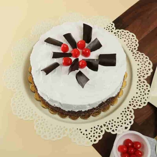 Vanilla and Black Forest Cake-0