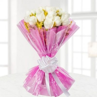 White Roses Bouquet-0