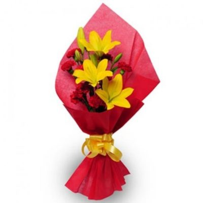 Yellow Lilies Bouquet-0