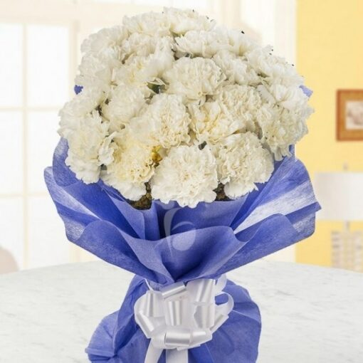 White in Blue Carnations-0