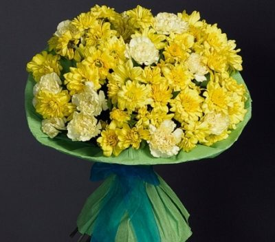 Yellow and White Flower Bunch-0