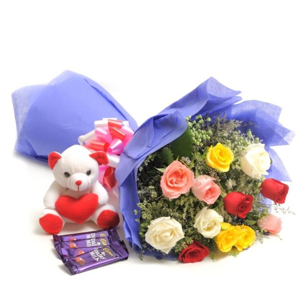 Flower & teddy match-0