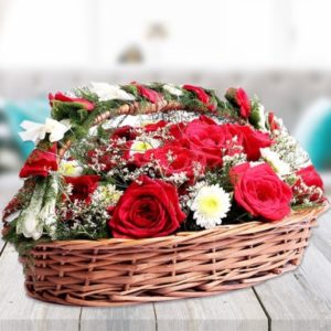 Mix Flower Basket-0