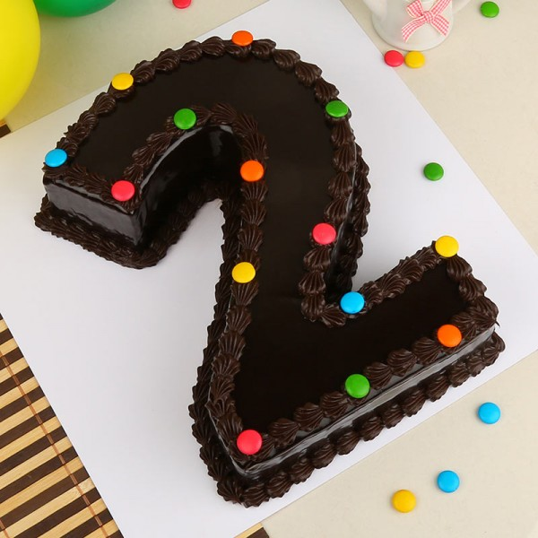 Desingner Number Chocolate Cake