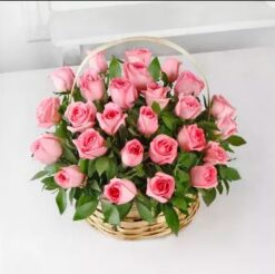 Pink Big Basket