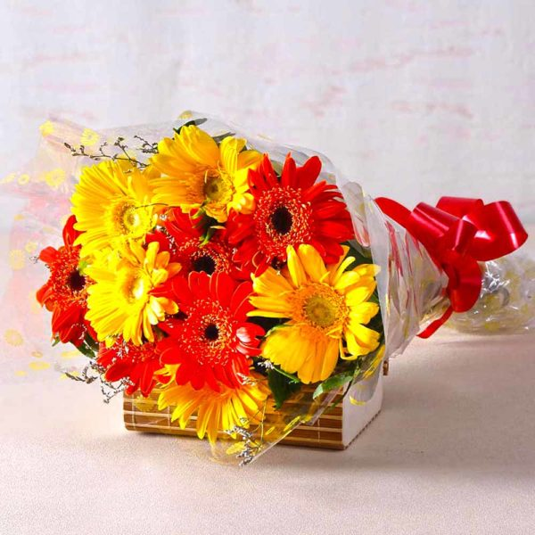 Red & Yellow Gerberas