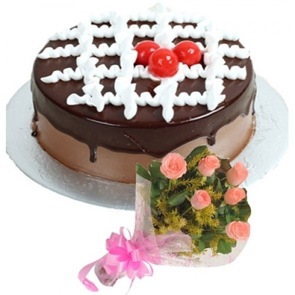 Another Chocolate Cake & Pink Bouquet-0