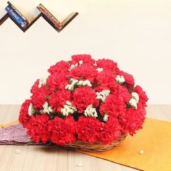 Basket of Carnations-0