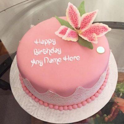 Fondant Strawberry Cake-0