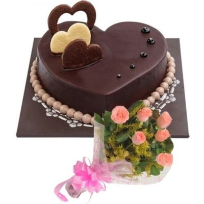 Choco Heart with Roses-0
