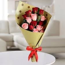 Red and Pink Roses Bunch-0