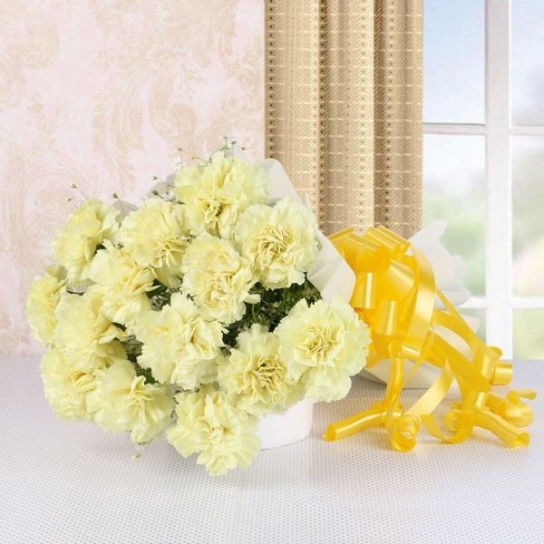 Yellow Carnations Bunch-0