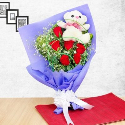 Special Rose Teddy Combo-0