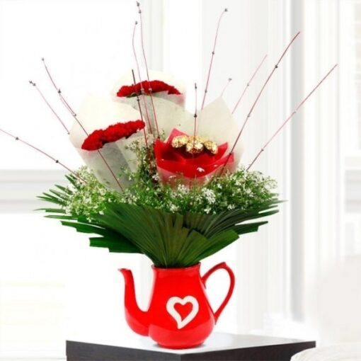 Carnations in a Vase-0