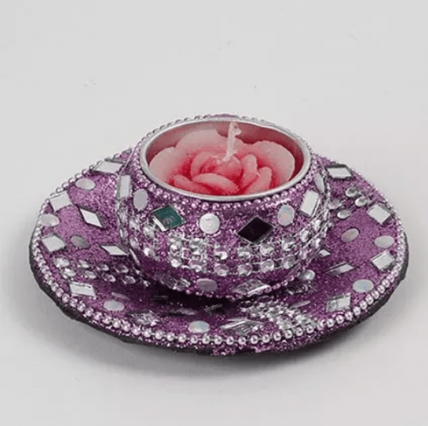 Designer Candle with Tray-0