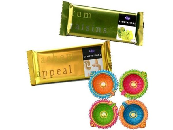 Diwali Special Diyas with Chocolates-0