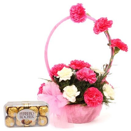 Pink Basket with Rochers-0