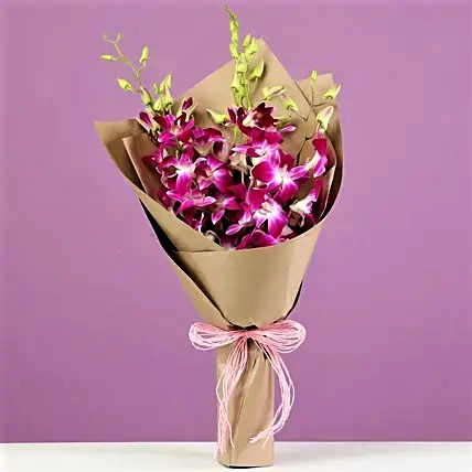 Brown Wrapped Orchids
