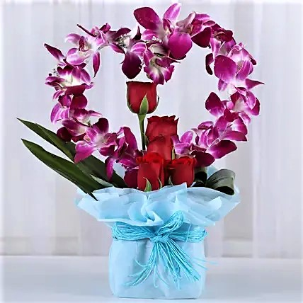 Heart Shaped Orchid Bouquet